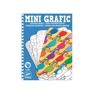 Djeco Mini Oyunlar / Boyamalar-Animal Colouring Pictures