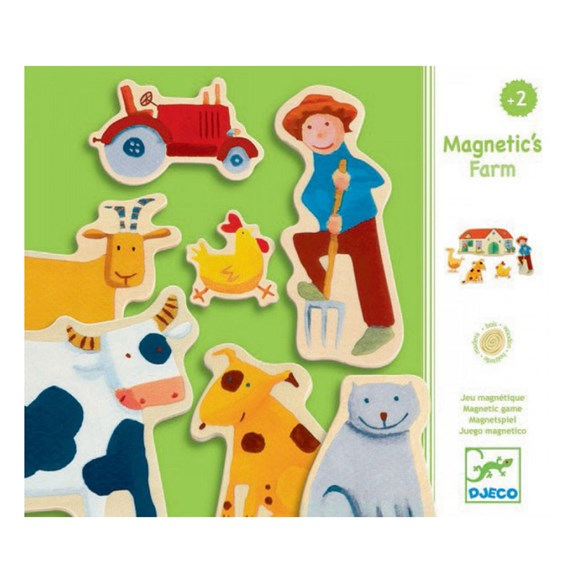 Djeco Mıknatıslı Oyunlar / Wooden Farm Magnets